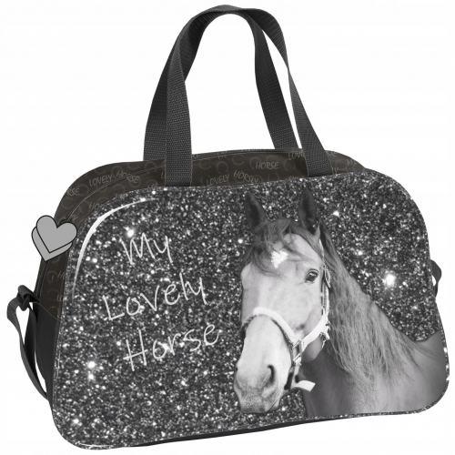 3e97d86e80ef4 Torba dziecięca sportowa dla dziewczynki z koniem, koń, konie PP19KO-074