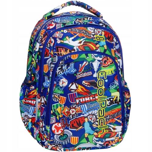 7d39f1f8c9943 Plecak szkolny CoolPack Football Cartoon Strike S dla chłopaka kolorowa  kreskówka z Piłką Nożną B17036