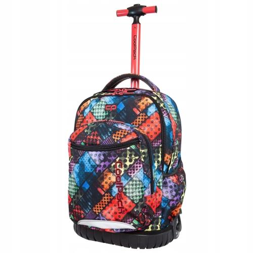 c63cd404d9345 CoolPack Swift Blox plecak szkolny na kółkach dla dziewczyny kolorowe  kwadraty B04014