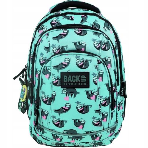 785595f5ce0b0 Plecak szkolny BackUP dla dziewczyny leniwce PLB2A21 - plecaki.com.pl