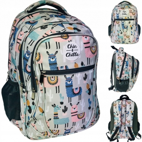 Plecak szkolny polskiej marki Incood dla dziewczyny szary w Lamy 0006 0064