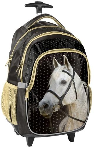 f8bbced99f2fe Plecak szkolny na kółkach z koniem