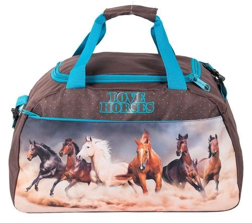 Torba sportowa, basen, fitness, podróżna 17 018KOL z koniem koń konie