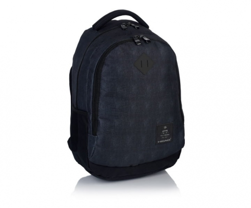 a86e21b4963d6 Plecak szkolny młodzieżowy HEAD czarny HD-70 - plecaki.com.pl