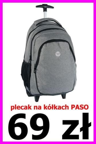 3c0b9a7c18595 Plecak szkolny na kółkach 16-997 M gładki
