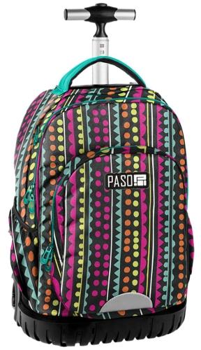 a48179f6aad35 Młodzieżowy plecak szkolny na kółkach Unique PASO - 18-1231YO ...