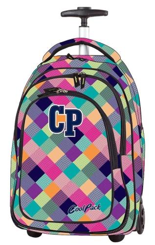7e4019ad9e8e1 CoolPack PATCHWORK kolorowe kwadraty Target 36l plecak szkolny na kółkach  79389CP (1042)