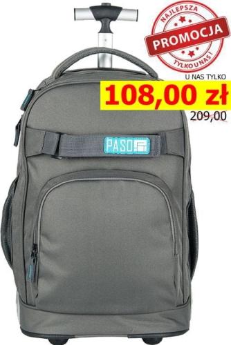 839b2ae97ba47 Młodzieżowy plecak szkolny na kółkach Unique PASO - 17-1230 UP Grey  Collection