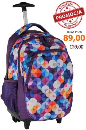 e4d630b2f4ba5 Plecak szkolny na kółkach 16-997 C kolorowe kółka - plecaki.com.pl