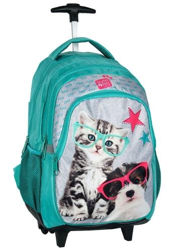 365632a4efe5d Plecak szkolny na kółkach Piesek i Kotek PEK-997 licencja Studio Pets