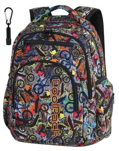 e211ec89a49a9 CoolPack FREE STYLE W ROWERY+ LATARKA Flash plecak szkolny ...