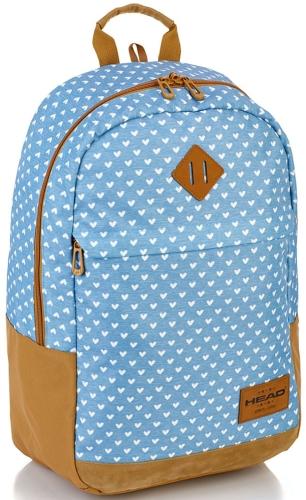 d688c775d6aa5 Plecak szkolny młodzieżowy HEAD jeansowy w serca dla dziewczyny HD-119