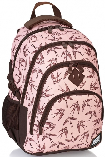 7b6e22fe94c1d Plecak szkolny młodzieżowy HEAD w ptaki dla dziewczyny HD-94 ...