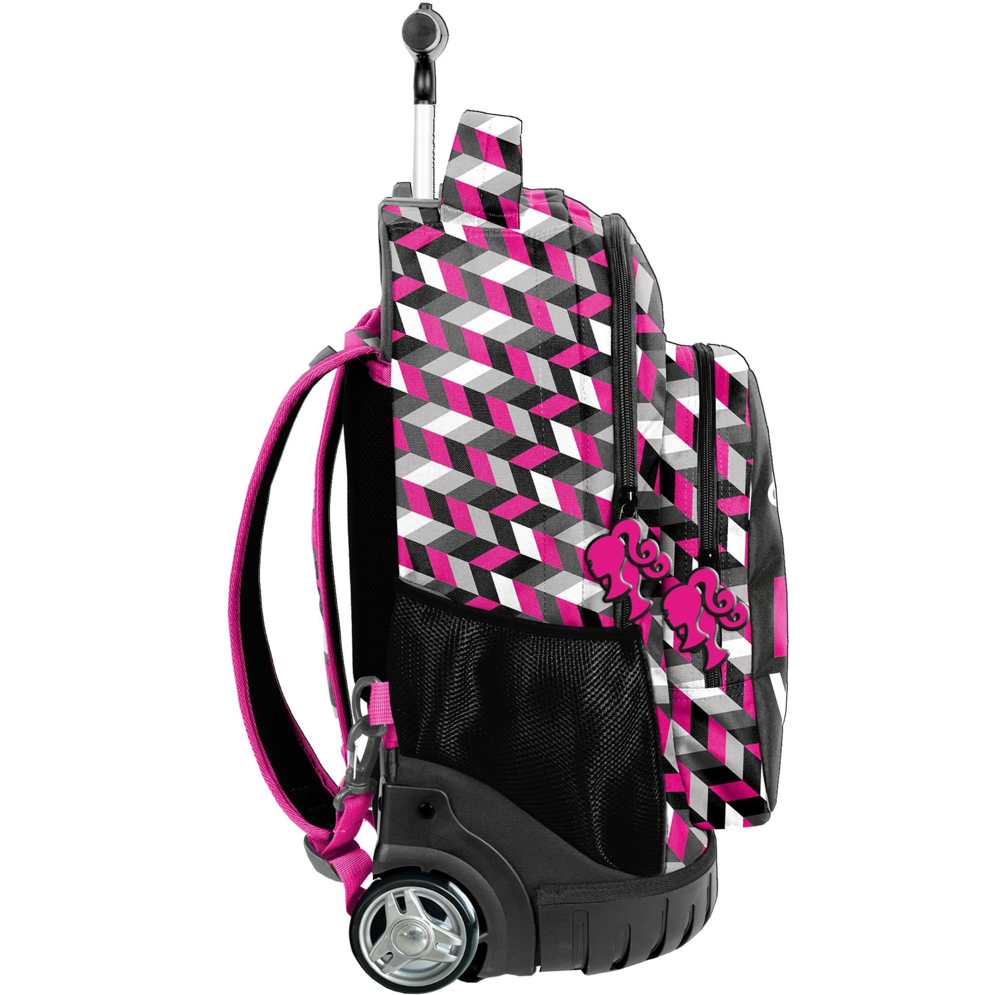 abe26204d5c6e Młodzieżowy plecak szkolny na kółkach Barbie PASO - BAE-1231 ...