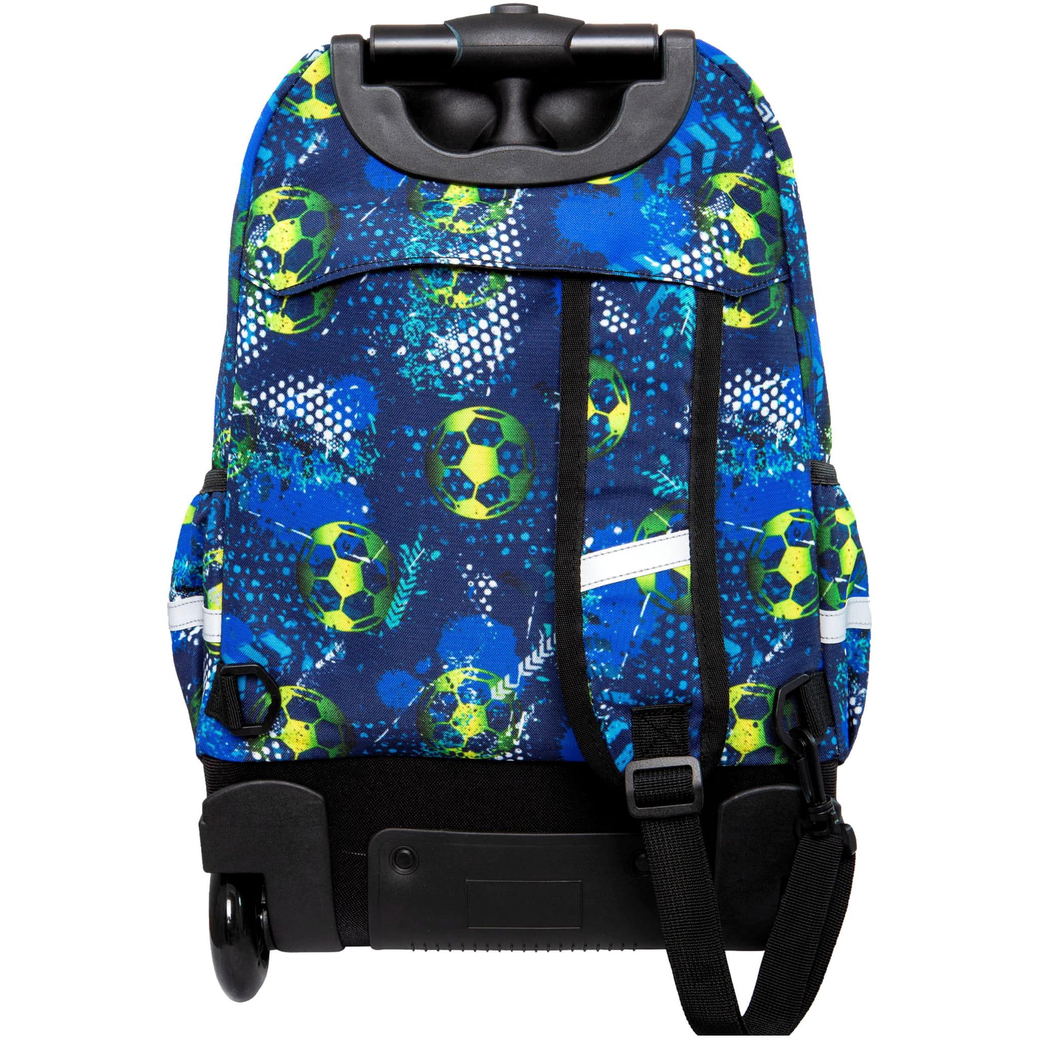 43e5fda50eefb CoolPack FOOTBALL BLUE Junior 34l plecak szkolny na kółkach piłka ...