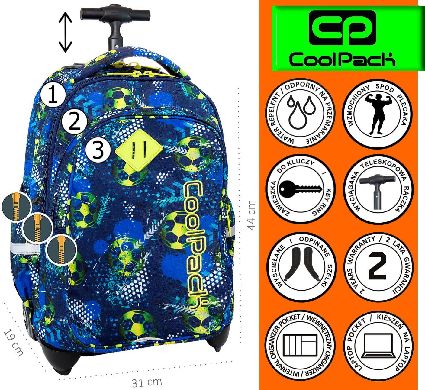 76a1bb8c42d3b CoolPack FOOTBALL BLUE Junior 34l plecak szkolny na kółkach piłka nożna  B28037. FOOTBALL - 1.jpg. nowość. FOOTBALL - 1.jpg  FOOTBALL - 2.jpg   FOOTBALL - 6. ...