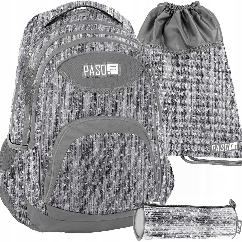 43f2c650a615b Zestaw młodzieżowy 3-elementowy PASO, plecak szkolny, piórnik tuba ...
