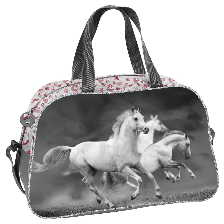 ec75e87ae3469 Torba dziecięca sportowa dla dziewczynki z koniem, koń, konie PP19HS-074.  074A.jpg. nowość. 074A. ...