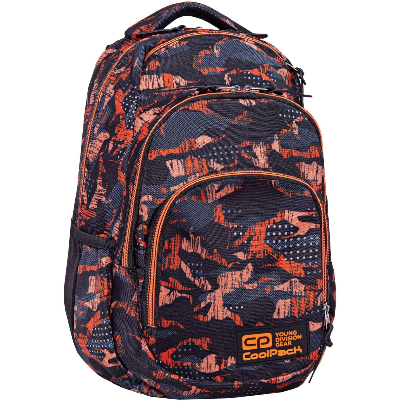 ffafd104e78e2 Plecak szkolny CoolPack Vance dla chłopaka kamuflaż-moro czarno-pomarańczowy  B37098. 1.jpg. nowość. 1. ...