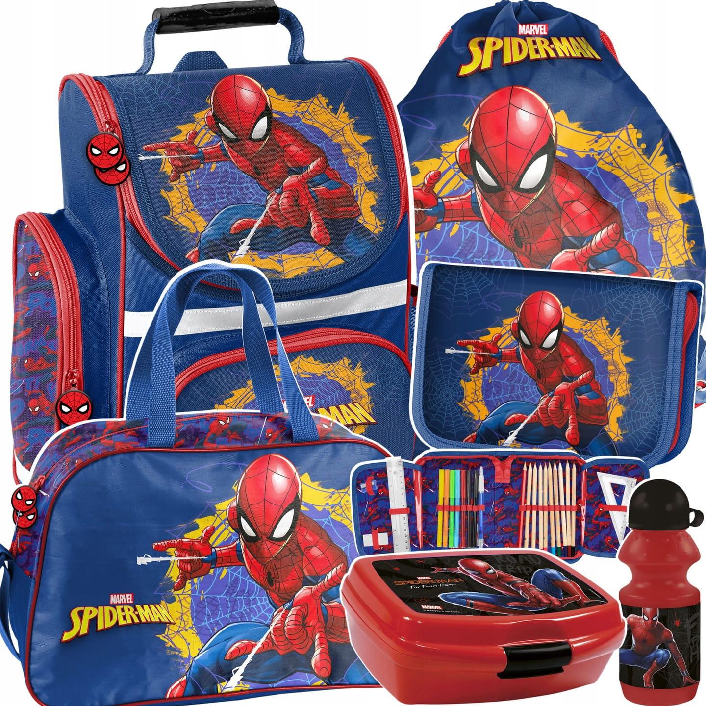 b33474f5f62f3 6-elementowy zestaw szkolny Paso dla chłopaka Spiderman SPU ...