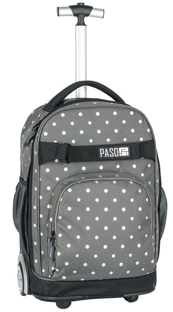 177708b99a9b2 Młodzieżowy plecak szkolny na kółkach Unique PASO - 17-1230 US ...