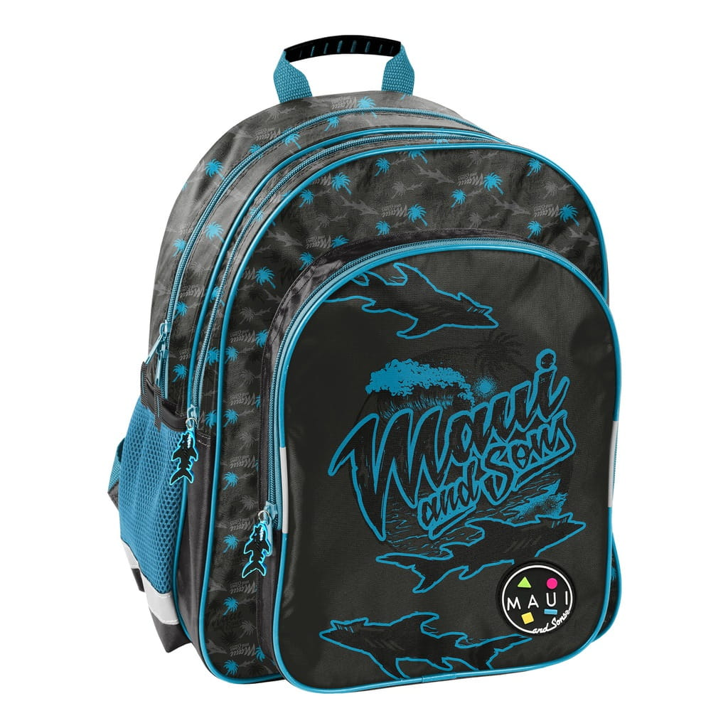 Plecak szkolny Paso Maui and Sons Rekiny dla chłopaka MAUM 090