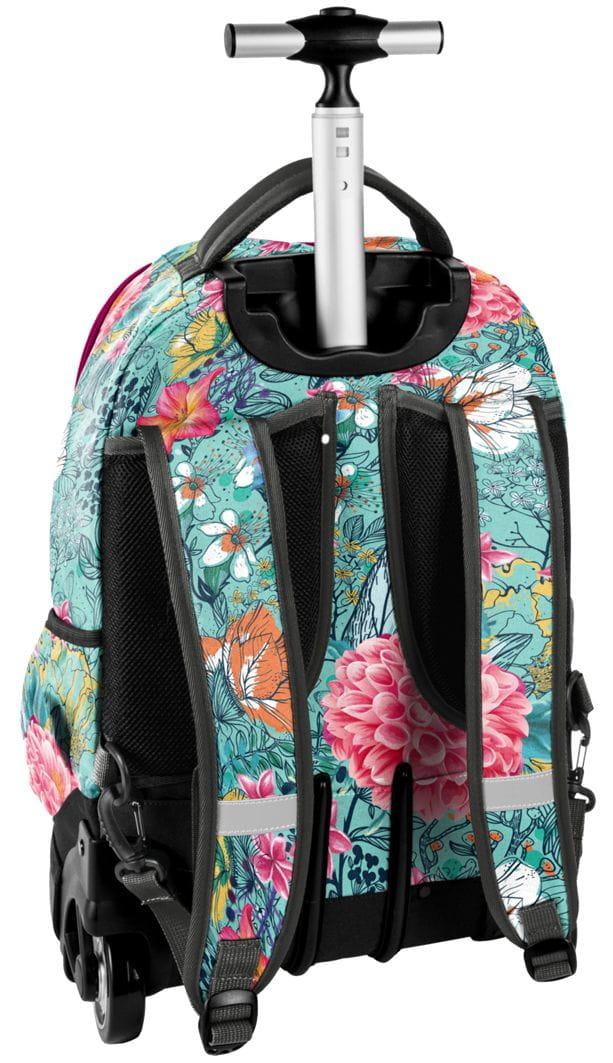 ef9c468a056f6 Młodzieżowy plecak szkolny na kółkach Unique PASO - 18-1231 EW W ...