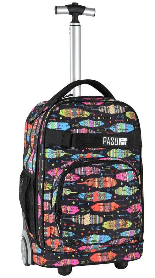 93dd8e223067f Młodzieżowy plecak szkolny na kółkach Unique PASO - 17-1230 UA kolorowe  piórka. UA.jpg. promocja. UA.jpg  17-1230UA-2.jpg ...