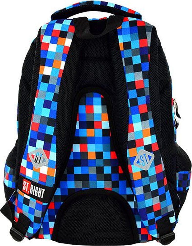 c4cf2179a04c5 ST.RIGHT BP-07 PIXELMANIA BLUE Plecak Młodzieżowy, Szkolny 4 komory ...