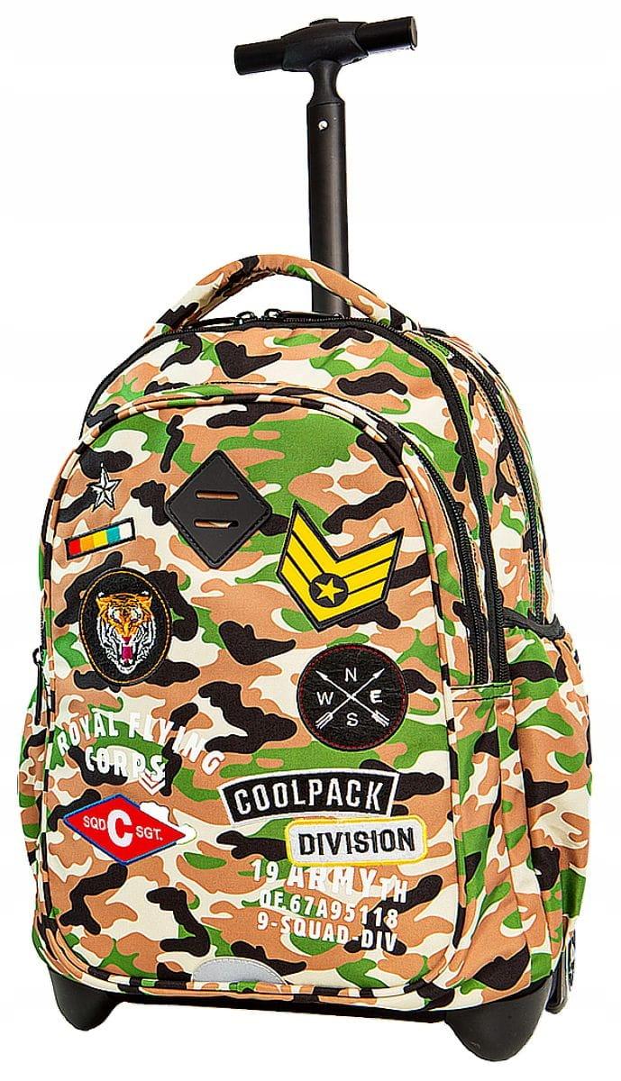 02e5ffcb6d765 CoolPack MORO DESERT BENTLEY Junior 34l plecak szkolny na kółkach A28109