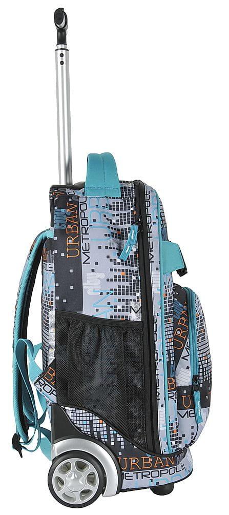 6a7530248b0b9 Młodzieżowy plecak szkolny na kółkach Unique PASO - 17-1230 UM City  Collection miast metropolia. UM.jpg. promocja. UM.jpg  17-1230UM (2).jpg  17-1230UM  (3). ...