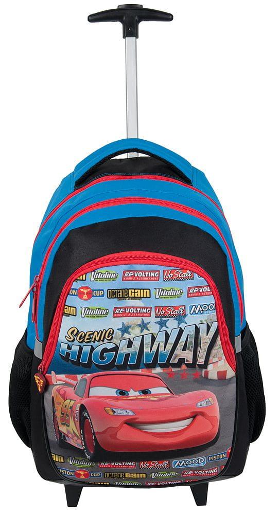 235baaa872187 Plecak szkolny na kółkach dla chłopaka z bohaterem bajki Cars - Auta ...