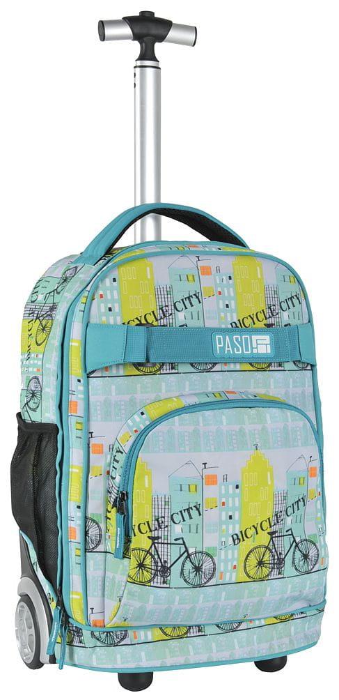 8ca3ab4d5f67b Młodzieżowy plecak szkolny na kółkach Unique PASO - 17-1230 UF ...