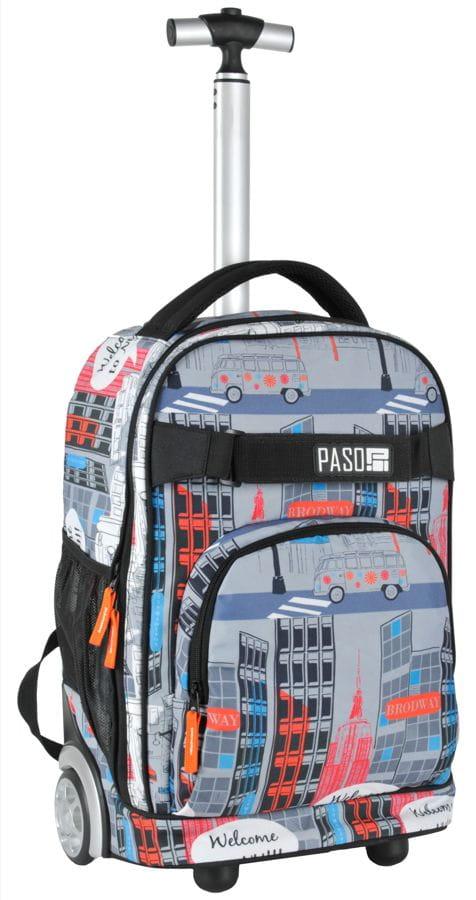 e61f2eb329e56 Młodzieżowy plecak szkolny na kółkach Unique PASO - 17-1230 UY Welcome to  New York. UY.jpg. UY.jpg  17-1230UY-2.jpg ...