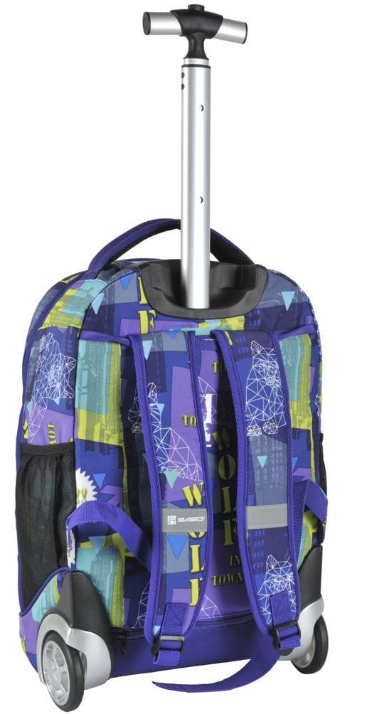 af0bc41c5b8f6 Młodzieżowy plecak szkolny na kółkach Unique PASO - 17-1230 UE WOLF ...