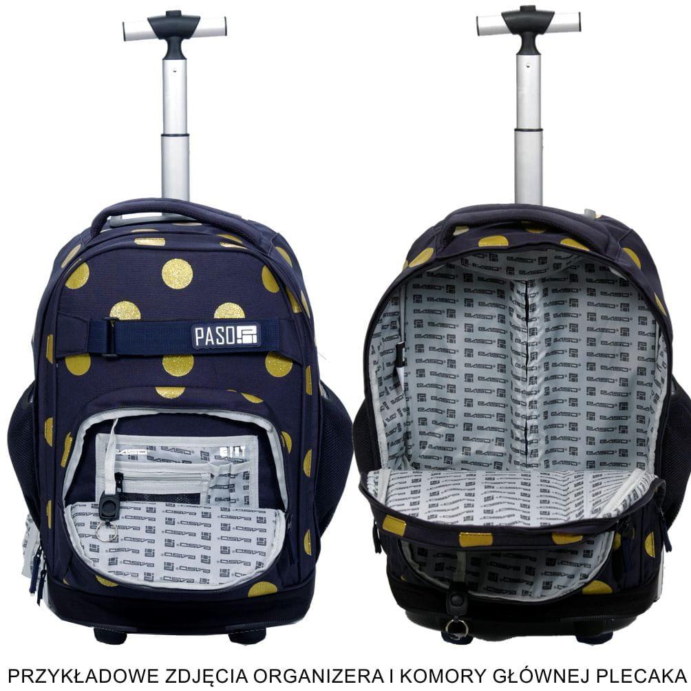 72a25a4470bc7 Młodzieżowy plecak szkolny na kółkach Unique PASO - 17-1230 UW Wild ...
