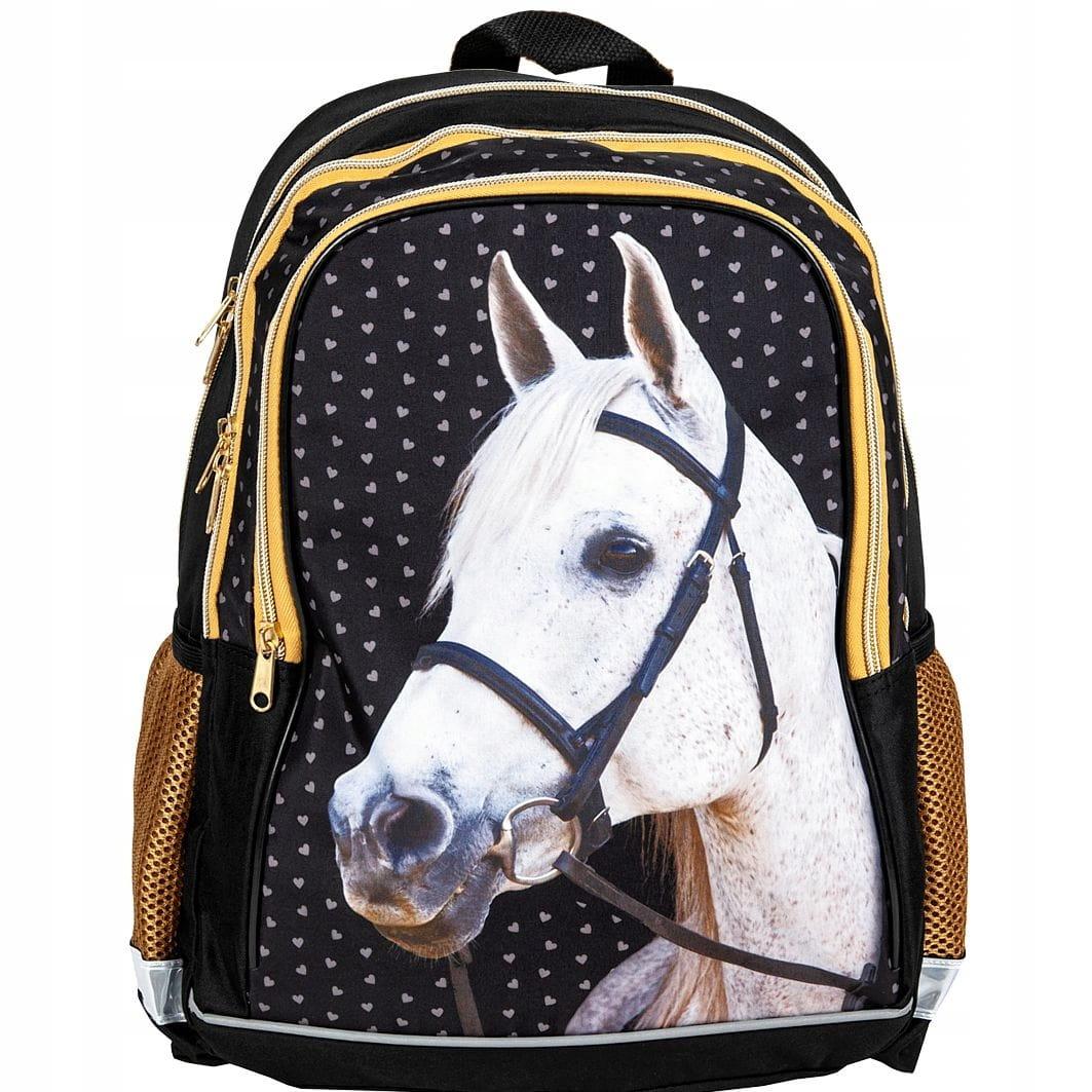 1b773173a77a0 Plecak szkolny z koniem, koń, konik Golden Horse 18-081HS - plecaki ...